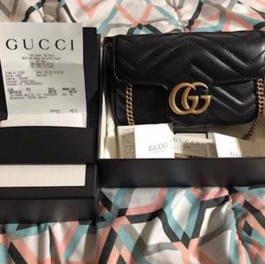 Authentic Gucci Mini Marmont Matelasse Bag